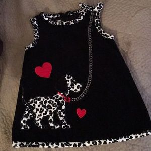 Infant black Bonnie baby corduroy dress